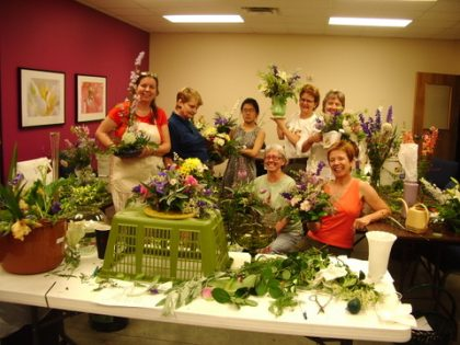 Flower arranging is one of many classes that have been offered at our church