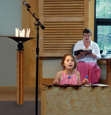 Participating in worship services is a learning experience for our children.