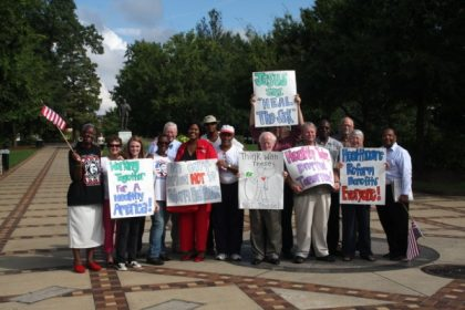 We rally for affordable health care coverage.