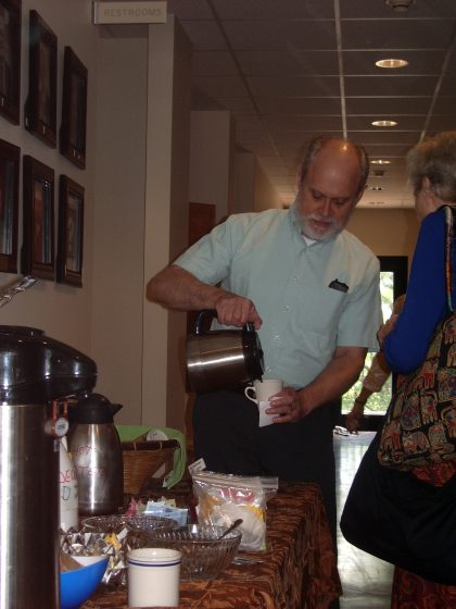 Enjoy a cup of coffee after the service. We'd like to get to know you.