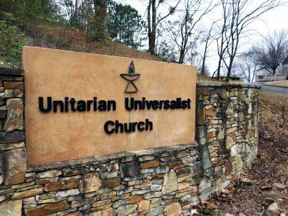 entrance to Unitarian Universalist Church of Birmingham