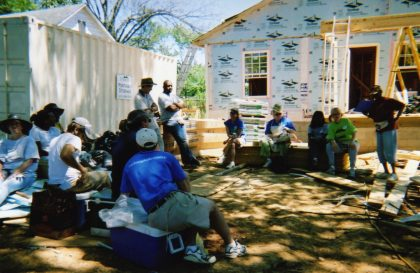 We helped build a house with Habitat for Humanity